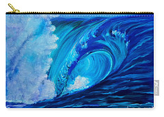 Carry-all Pouch featuring the painting Wave 11 by Jenny Lee