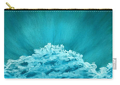 Carry-all Pouch featuring the painting Wave Cloud - Sky And Clouds Collection by Anastasiya Malakhova