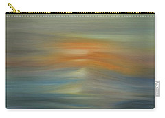 Wave Swept Sunset Carry-all Pouch by Dan Sproul