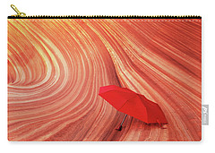 Carry-all Pouch featuring the photograph Wave Umbrella by Norman Hall