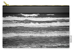 Waves 3 In Bw Carry-all Pouch