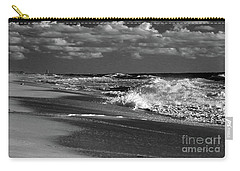 Waves And Clouds In Bw Carry-all Pouch by Mary Haber