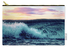 Waves Crashing At Sunset Carry-all Pouch