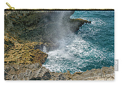 Waves Crushing On The Shore Carry-all Pouch