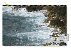 Waves Lashing Rocks Carry-all Pouch by Margaret Brooks