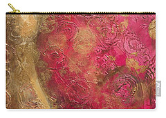 Waves Of Circles On Fuchsia Carry-all Pouch by Kristen Abrahamson