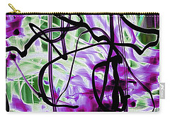 Waves Of Purple Carry-all Pouch