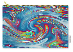 Waves Of Rainbow Carry-all Pouch