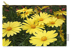 Waves Of Yellow Daisies Carry-all Pouch