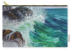 Carry-all Pouch featuring the painting Waves On Maui by Darice Machel McGuire