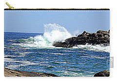 Waves  On Rocks Carry-all Pouch