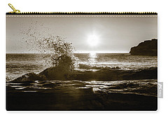 Carry-all Pouch featuring the photograph Waves Over Cavendish Sandstone by Chris Bordeleau