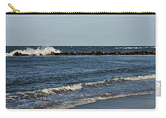 Carry-all Pouch featuring the photograph Waves by Sandy Keeton