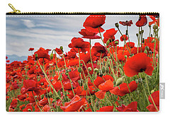 Waving Red Poppies Carry-all Pouch