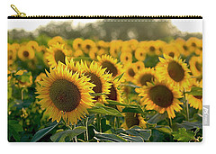 Waving Sunflowers In A Field Carry-all Pouch