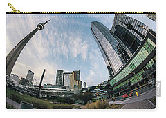 Wavy Toronto Cn Tower Carry-all Pouch