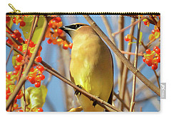 Waxwing Heaven Carry-all Pouch by Amy Porter