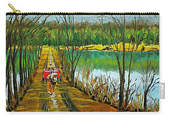 Crossing The Canal Carry-all Pouch by Mike Caitham