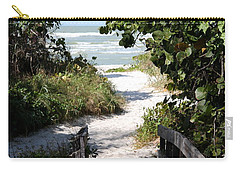 Way To The Beach Carry-all Pouch by Christiane Schulze Art And Photography
