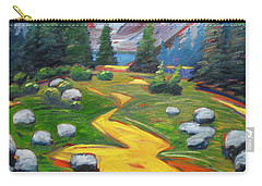 Carry-all Pouch featuring the painting Way To The Lake by Gary Coleman