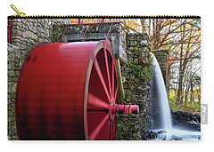 Wayside Inn Grist Mill Water Wheel Carry-all Pouch by Betty Denise