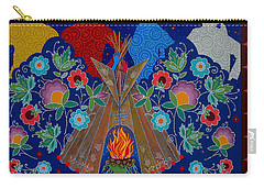 Carry-all Pouch featuring the painting We Are One Bond by Chholing Taha