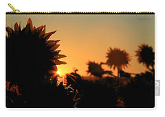 Carry-all Pouch featuring the photograph We Are Sunflowers by Chris Berry