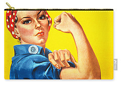 We Can Do It Rosie The Riveter Poster Carry-all Pouch