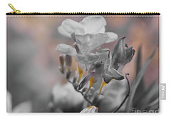 Carry-all Pouch featuring the photograph We Fade To Grey Freesia's by Lance Sheridan-Peel