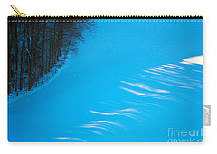 Carry-all Pouch featuring the photograph We Got The Blues - Winter In Switzerland by Susanne Van Hulst