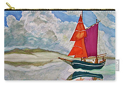 Carry-all Pouch featuring the painting We Sailed Upon A Sea Of Glass by Rand Swift