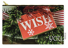 We Wish You Carry-all Pouch by David Pantuso