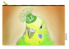 Carry-all Pouch featuring the digital art Wearin' Of The Green by Jean Pacheco Ravinski
