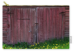 Carry-all Pouch featuring the photograph Weathered Barn Spring by Alan L Graham