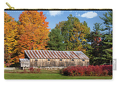 Weathered Barn With Rusty Tin Roof Carry-all Pouch by Betty Denise