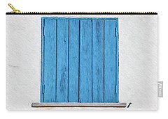 Weathered Blue Shutter Carry-all Pouch