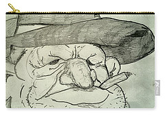 Weathered Old Man Carry-all Pouch by Yshua The Painter
