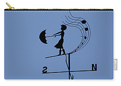 Carry-all Pouch featuring the photograph Weathergirl by Rasma Bertz