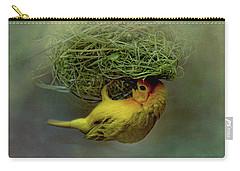 Weaver Bird Building A Nest Carry-all Pouch