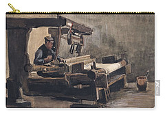 Carry-all Pouch featuring the painting Weaver Nuenen, December 1883 - August 1884 Vincent Van Gogh 1853 - 1890 2 by Artistic Panda