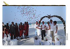 Wedding Party In Rose Petals Carry-all Pouch
