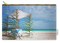 Carry-all Pouch featuring the photograph Wedding Tent On The Beach by Jenny Rainbow
