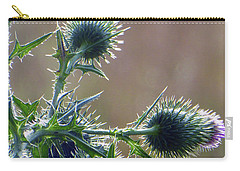 Weed Flower 5 Of 5 Carry-all Pouch by Tina M Wenger