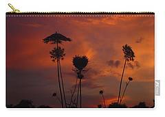 Weeds In The Sunrise Carry-all Pouch by Kathryn Meyer