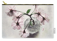 Weeping Cherry Blossoms Still Life Carry-all Pouch by Louise Kumpf