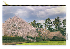 Carry-all Pouch featuring the photograph Weeping Cherry In Bloom by Jessica Jenney