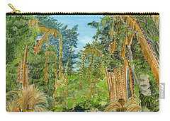 Carry-all Pouch featuring the painting Weeping Janur Bali Indonesia by Melly Terpening
