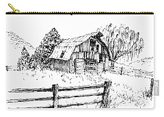 Weeping Willow And Barn One Carry-all Pouch