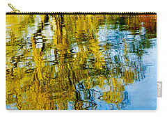 Reflective Lake Weeping Willow Tree  Wall Art Print Carry-all Pouch