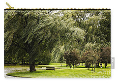 Weeping Willow Trees On Windy Day Carry-all Pouch